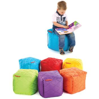 Quilted Outdoor Furniture, Cubes, Set of 6
