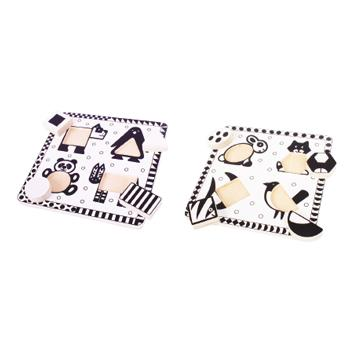 Black & White Puzzle Set, Set of 2
