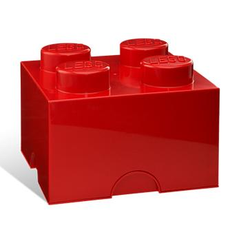 LEGO(R) Storage Brick - Red 2X2, 4 Years+, Each