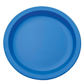 Polycarbonate Ware, Anti-Bacterial, Plate, Blue, 170mm diameter, Each