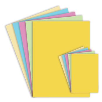 Assorted Pastel Card, A4, 280 Micron, Pack of 100 Sheets