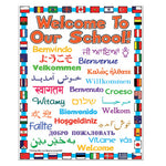 Welcome Posters, 'Welcome To Our School', Outdoor, 420 x 594Mm (A2), Each