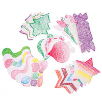 Embossed Tree Decorations, Pack of 100