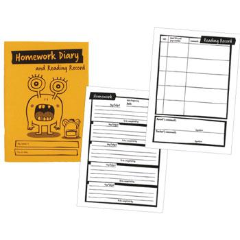 A5 Homework Diary & Reading Record, Pack of 30
