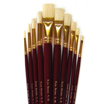Artists' Tools, Long Handle Assorted, Pack of 10