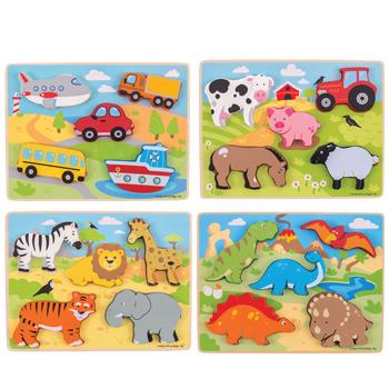 Chunky Lift Out Puzzle Set, Age 2+, Set of 4