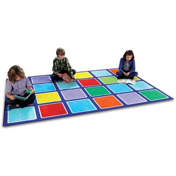 Kit For Kids, Rainbow(TM) Placement Carpets, Squares Rectangular, 3000 x 2000mm, Each