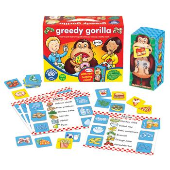 Games, Nutrition, Greedy Gorilla Game, Age 4-8, Each
