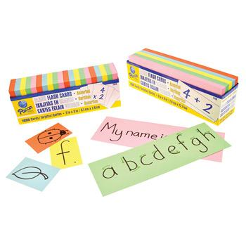 Flash Cards, Assorted Colours, Large, 76 x 228mm, Pack of 250