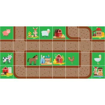 Robot Play Mats, Farm, 125mm Robots, Each