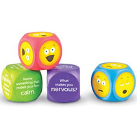 Soft Foam Emoji Cubes, Age 3+, Set of 4
