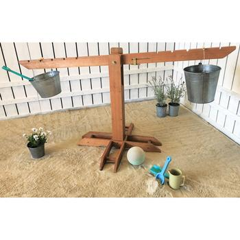 Outdoor Wooden Giant Scale, Set