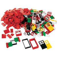 LEGO Education, 9386 Doors, Windows, & Roof Tiles, 4 Years+, Set of 278 Pieces