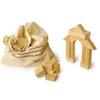 Building Blocks, Large Natural Blocks, Set of 50 Pieces