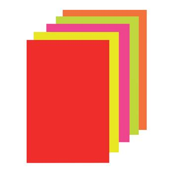 Paper, Copier, A4, Fluorescent Paper Assorted, Pack of 100 Sheets