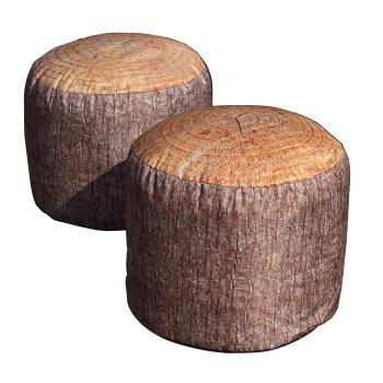 Tree Stump Bean Stools, Large, Pack of 2