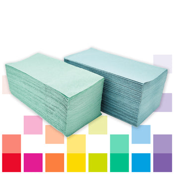 Smartbuy, Hand Towels, Green, 1 Ply, Case of 5000 Sheets