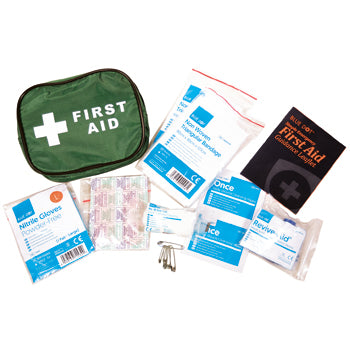 Portable First Aid Kits, Single Person Belt Pouch, 170 x 105 x 75mm, Each