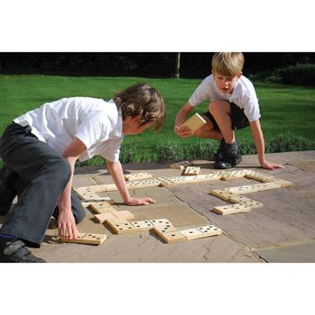 Dominoes, Wooden Floor Giant Dominoes Set of 28