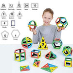 Magnetic Polydron, Mathematics Set, Pack of 118 Pieces