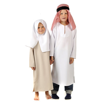 Multicultural Costumes, Middle Eastern Boy and Girl, Set