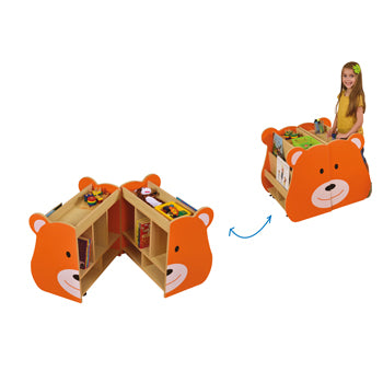 Double Sided Book Storage, Bear, Each