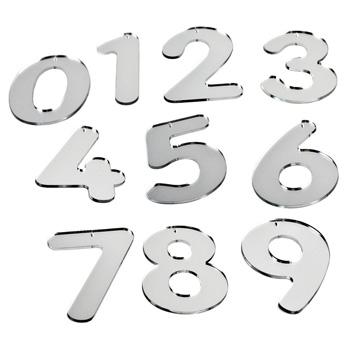 Number Set, Mirror Numbers, Pack of 10