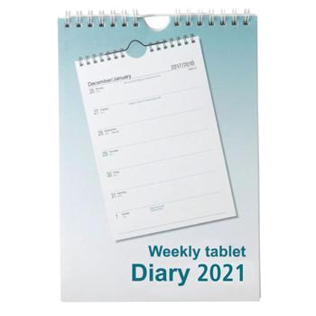 A5 Tablet Style Diaries 2021, One Week To View, Each