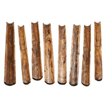 Wooden Channelling, Set of 8