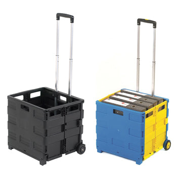 Sack Truck, Folding Box Truck, Without Lid, Black, Each