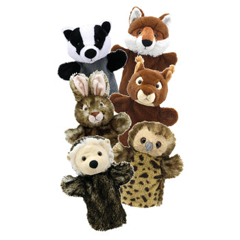 Puppet, Glove, Woodland Animals, Set of 6