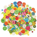 Buttons, Collage, Round, Pack of 500g
