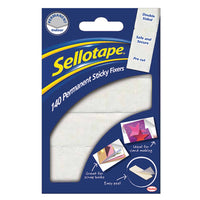Sellotape(R) Self-Adhesive Sticky Fixers(R), 12 x 25Mm, Pack of 140 Pads