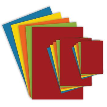 Assorted Bright Card, SRA2, 750 Micron, Pack of 20 Sheets
