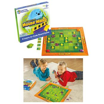 Code & Go(R) Mouse Mania Board Game, Age 5+, Set