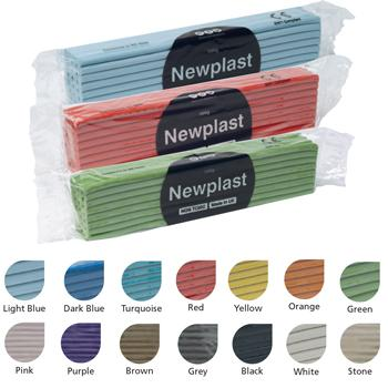 Modelling Materials, Newplast, Individual Colours, 0.5kg Blocks