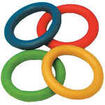 Rubber Quoits Throwing Rings, Pack of 4