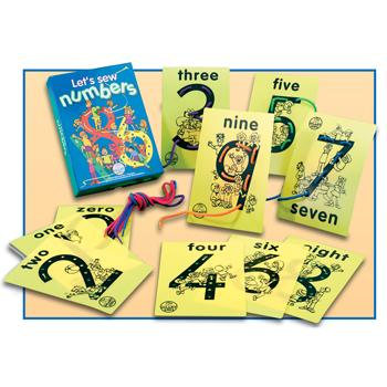 Threading And Lacing, Let's Sew Numbers, Age 4-5, Set of 10