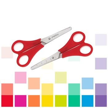 Smartbuy, Scissors, 12.5Cm Blunt/Blunt, Right-Handed (Red)