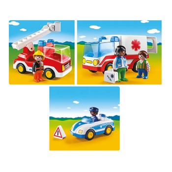Playmobil(R) 1.2.3 Range, Emergency Services Bundle, Set