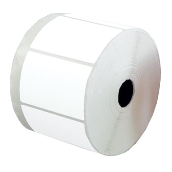 White Self-Adhesive Labels, Non Printer, Reels, Rectangular, 75 x 50mm, Reel of 1500