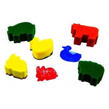 Sponge Foam Shapes, Animals, Pack of 5