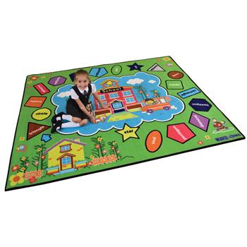 Learning Rugs, Economy Pile Rugs, Colours & Shapes, 2400 x 2000mm, Each
