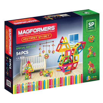 My First Magformers, Age 11/2+, Set of 54 Pieces