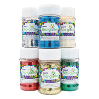 Craft Bioglitter(R), Medium Tubs, Pack of 6 x 60g