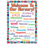 Welcome Posters, 'Welcome To Our Nursery', Indoor, 297 x 420mm (A3), Each