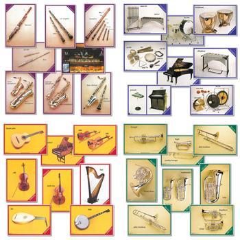 Musical Instruments A5 Cards, Set