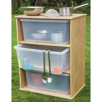 Duraplay Outdoor Range, Storage With 3 Clear Trays, Each