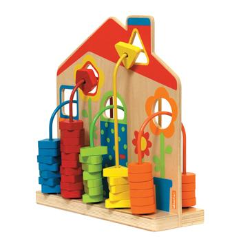 Wooden Beads House, Age 2+, Each