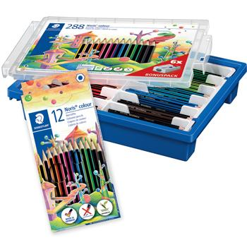 Standard Hexagonal Coloured Pencils, Staedtler Noris Colour, Assorted Colours, Pack of 12